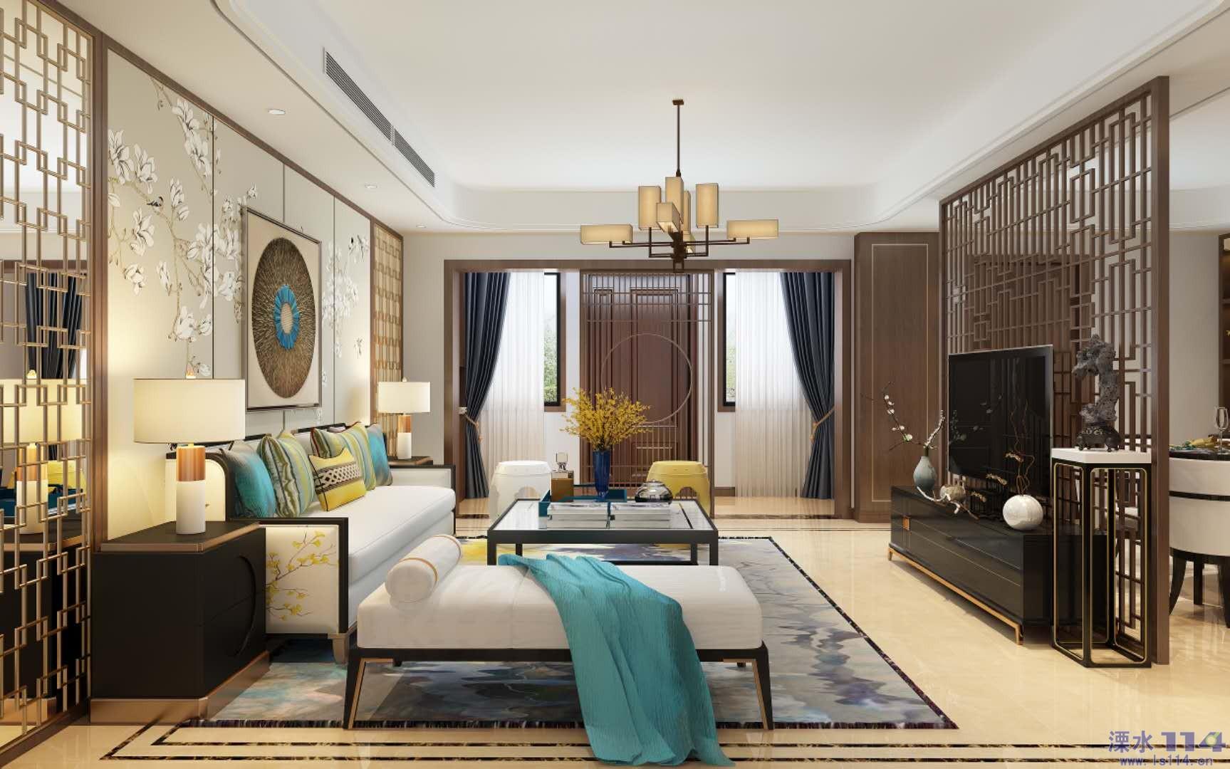 客厅 客厅的沙发背景墙以素净的木饰面布局,争相盛开的白色花朵为图片