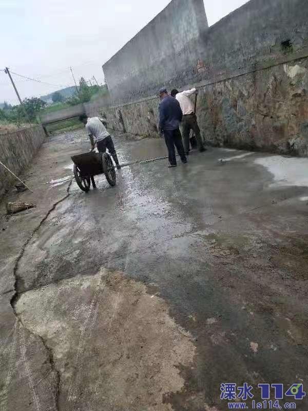 群力社区对南塘水库基础设施进行维修整治